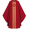 Chasuble Assisi with Woven Band Red 701042