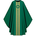 Chasuble Assisi with Woven Band Green 701043