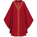 Chasuble Assisi with Woven Band Red 701052