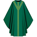 Chasuble Assisi with Woven Band Green 701053