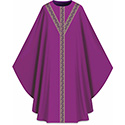 Chasuble Assisi with Woven Band Purple 701054