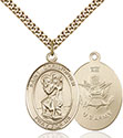14kt Gold Filled St. Christopher Pendant 7022-2