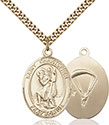 14kt Gold Filled St. Christopher Paratrooper Pendant 7022-7