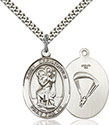 Sterling Silver St. Christopher/Paratrooper Pendant 7022-7