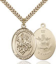 14kt Gold Filled St. George Pendant 7040-2
