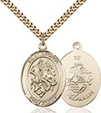 14kt Gold Filled St. George Pendant 7040-4