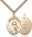 14kt Gold Filled St. Joan of Arc Air Force Pendant 7053-1