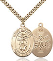 14kt Gold Filled St. Michael EMT Pendant 7076-10
