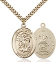 14kt Gold Filled St. Michael the Archangel Pendant 7076-1