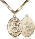 14kt Gold Filled St. Michael the Archangel Pendant 7076-2
