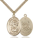 14kt Gold Filled St. Michael the Archangel Pendant 7076-3