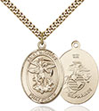14kt Gold Filled St. Michael the Archangel Pendant 7076-4