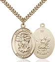 14kt Gold Filled St. Michael the Archangel Pendant 7076-6
