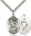 Sterling Silver St. Michael Paratrooper Pendant 7076-7