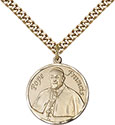 14kt Gold Filled Pope Francis Round Pendant 7451RD