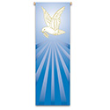 Dove with Olive Branch Banner 7123