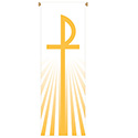 "Easter Chi Rho & Lamb of God Banners 117"" x 39"""