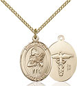 14kt Gold Filled St. Agatha Nurse Pendant 8003-9