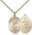14kt Gold Filled St. Christopher Army Pendant 8022-2