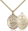 14kt Gold Filled St. George Army Pendant 8040-2