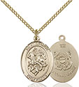 14kt Gold Filled St. George Coast Guard Pendant 8040-3