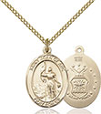 14kt Gold Filled St. Joan of Arc Air Force Pendant 8053-1