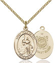 14kt Gold Filled St. Joan of Arc /Coast Guard Pendant 8053-3