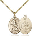 14kt Gold Filled St. Michael Army Pendant 8076-2