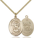 14kt Gold Filled St. Michael Coast Guard Pendant 8076-3