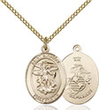 14kt Gold Filled St. Michael Marines Pendant 8076-4