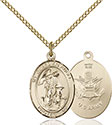 14kt Gold Filled Guardian Angel Army Pendant 8118-2