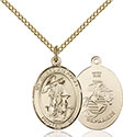 14kt Gold Filled Guardian Angel Marines Pendant 8118-4