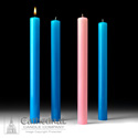 "Blue Advent Candle Sets Stearine 1-1/2"" Diameter"