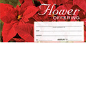 Offering Envelope Christmas Flower 8269