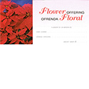 Offering Envelope Christmas Flower Bilingual 8449S