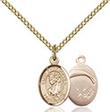 14kt Gold Filled St. Christopher Paratrooper Pendant 9022-7