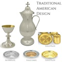 Chalice Communion Set Traditional American Design