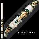 "Eximious® Hand Crafted ""Christus Rex™"" Paschal Candle"
