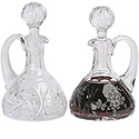 Pair of Crystal Cruets 6 oz Capacity K957