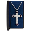 Pectoral Cross Amethyst PC-500S