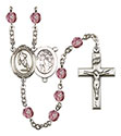 St. Sebastian Rugby 6mm Rosary R6000-8187