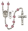 St. Christopher Karate 6mm Rosary R6000-8515