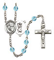 St. Christopher Hockey 6mm Rosary R6000-8504