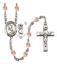 St. Christopher Rugby 6mm Rosary R6000-8194