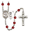 St. Christopher Field Hockey 6mm Rosary R6000-8195