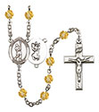 St. Christopher Lacrosse 6mm Rosary R6000-8144