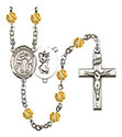 St. Christopher Wrestling 6mm Rosary R6000-8159