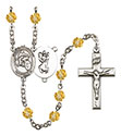 St. Christopher Motorcycle 6mm Rosary R6000-8185