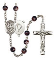 St. George/Paratrooper 7mm Brown Rosary R6004S-8040S7