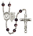 Pope Emeritace Benedict XVI 7mm Brown Rosary R6004S-8235
